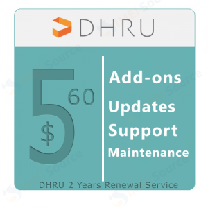 DHRU Updates, Support and Maintenance - Renewals 2 Years - [ Add-ons ] - 560 USD