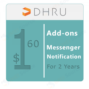 DHRU Messenger Notification [Add-ons] - [ 2 Years ] - 160 USD