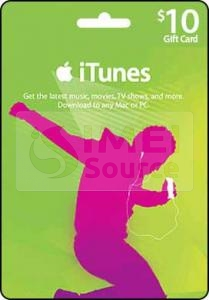 iTunes $10 USD Gift Card (US)